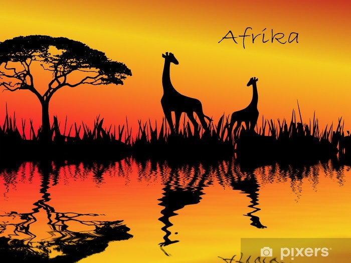 Sticker Pixerstick Afrika - Autres