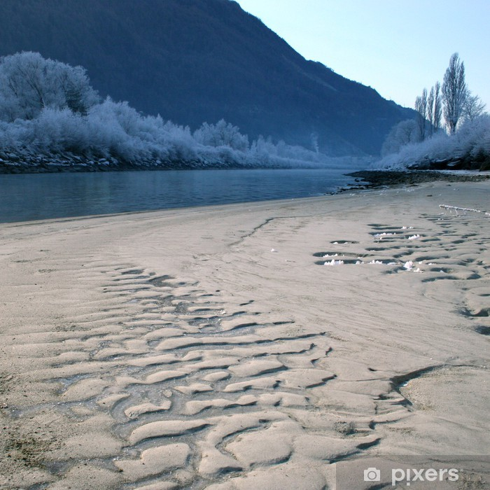 Plakat Plaża zimą mrożone - Religie