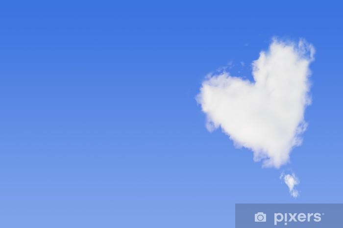 Vinyl-Fototapete ハ ー ト 型 の 雲 - Himmel