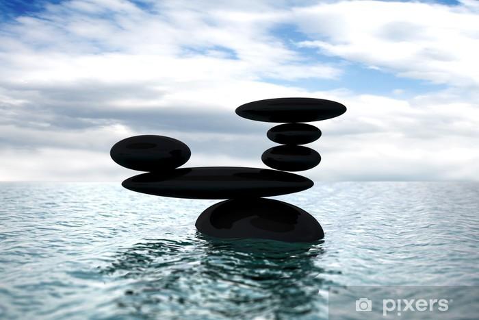 Naklejka Pixerstick Grupa kamieni zrównoważony - Inne przedmioty