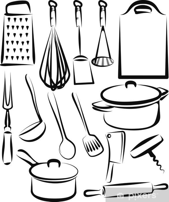 Vinilo Pixerstick Utensilios de cocina - Temas