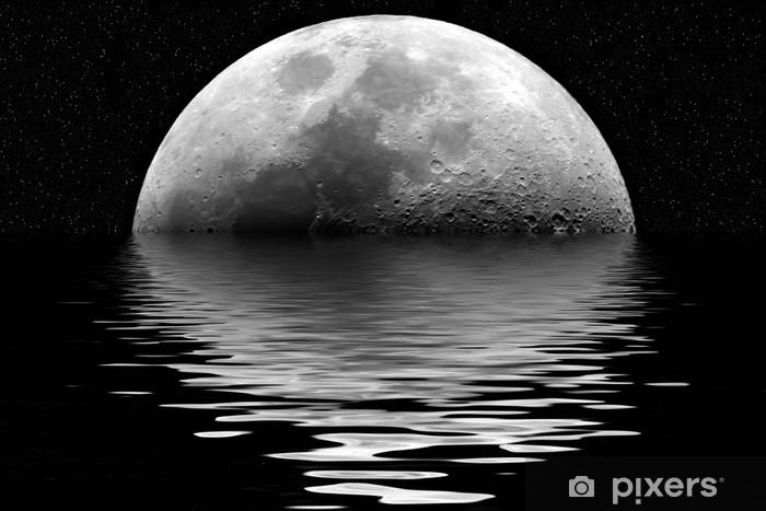moon reflection Pixerstick Sticker - Themes