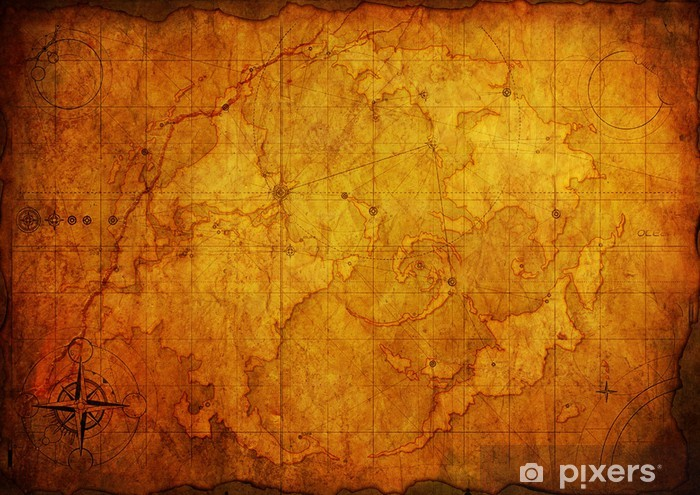 Ancient Map Old Paper Texture Sticker Pixers We Live To Change