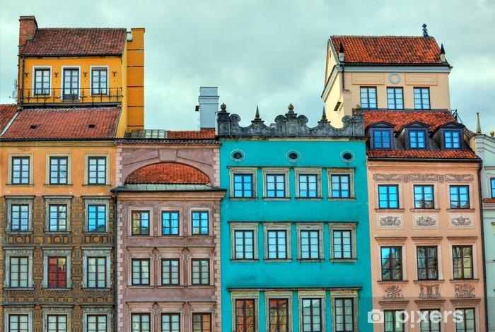 Fototapeta winylowa Obraz HDR starych warszawskich domów - Tematy