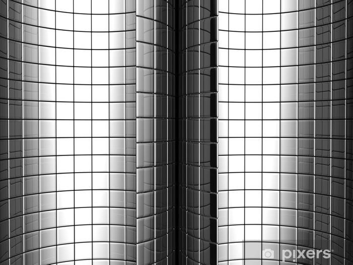Sticker Pixerstick Courbe d'aluminium Résumé motif carré fond - Campagne