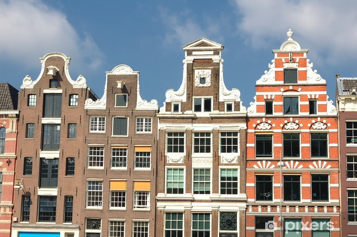 Vinylová fototapeta Amsterdam Hausfasade - Vinylová fototapeta
