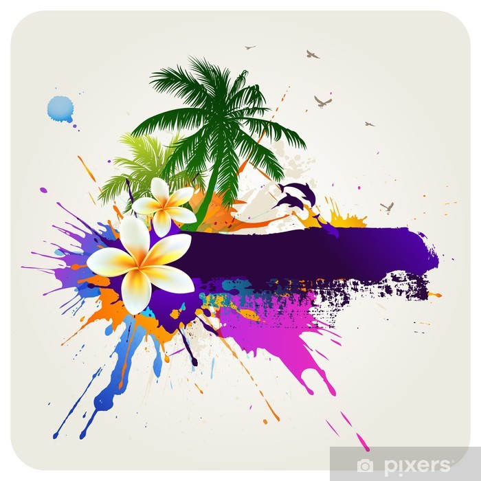 Tropical abstract background Poster - Holidays