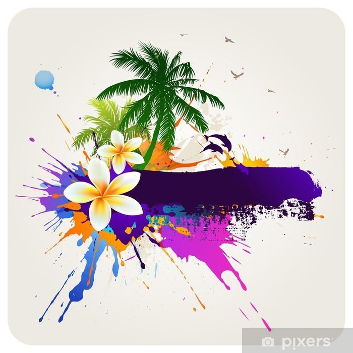 Poster Tropical fond abstrait - Vacances
