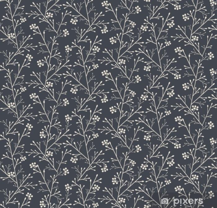 Afwasbaar Fotobehang Naadloos patroon met fantasiebos met bessen - Bloemen en Planten