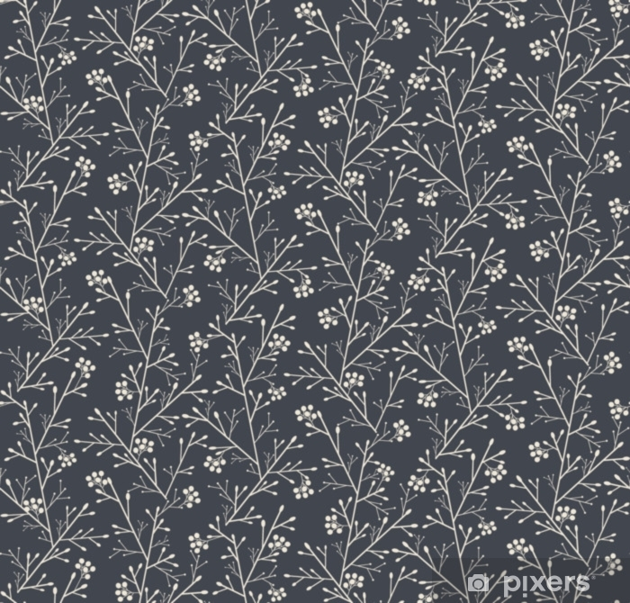 seamless pattern with fantasy forest with berries Vinyl Wall Mural - Plants and Flowers