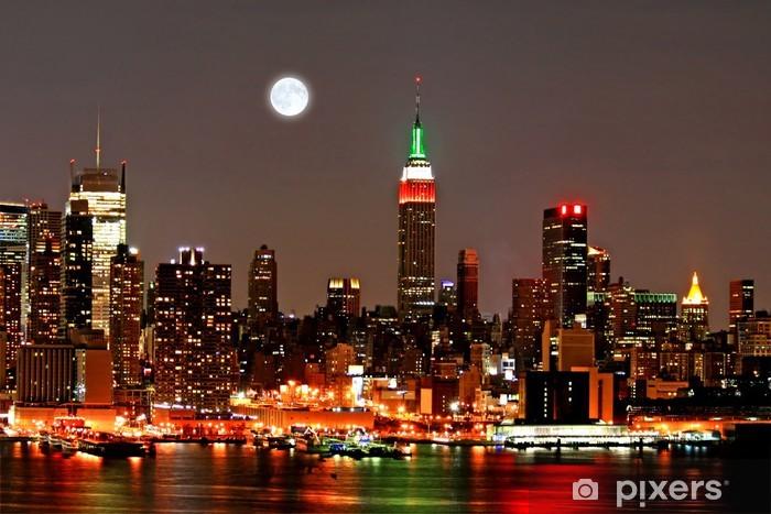 Naklejka Pixerstick Mid-town Manhattan Skyline - Miasta amerykańskie