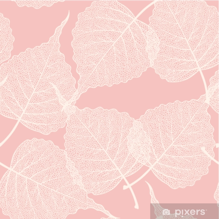 High detail skeleton leaf vector seamless pattern Self-Adhesive Wall Mural - Graphic Resources