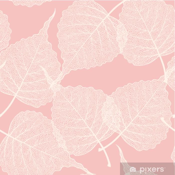 Zelfklevend Fotobehang Hoge detail skelet blad vector naadloze patroon - Grafische Bronnen