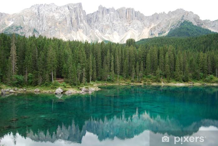 Vinyl Fotobehang Lago di Carezza - Water