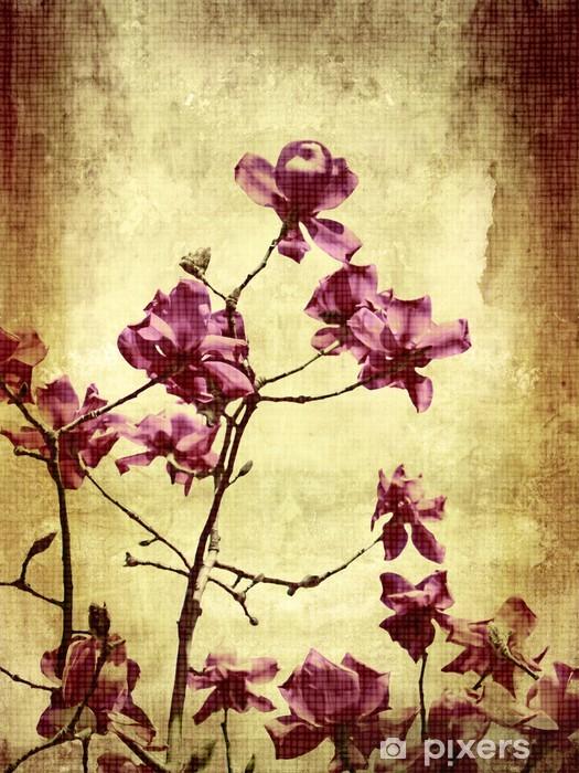 Naklejka Pixerstick Piękne grunge tła z magnolii - Tematy