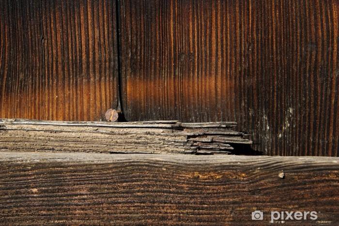 Naklejka Pixerstick Holzstruktur - Przemysł ciężki