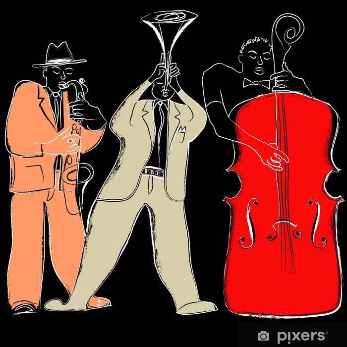 Jazz band Pixerstick Sticker - Music