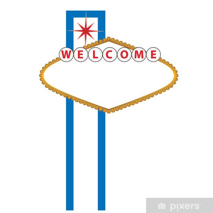 Sticker Pixerstick Blank signe de Las Vegas - Villes américaines