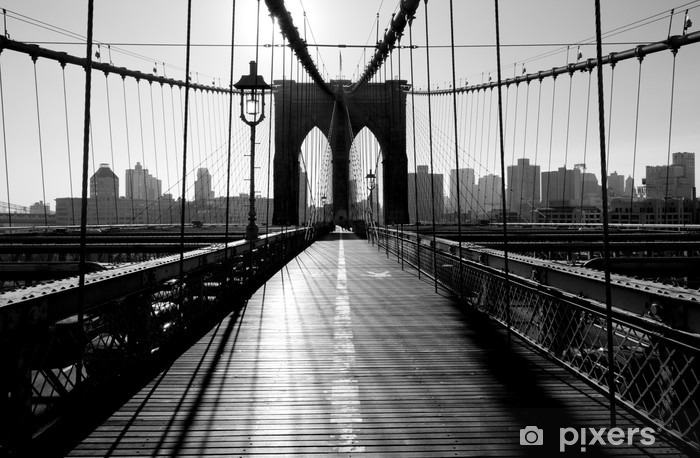 Vinilo Pixerstick Brooklyn Bridge, Manhattan, Nueva York, EE.UU. -