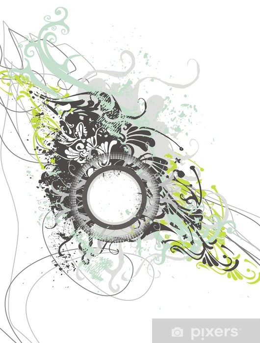 Nálepka Pixerstick Dekorativní abstraktní květinové pozadí s prázdný - Pozadí