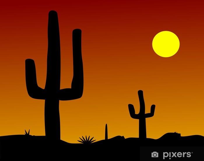 Sticker Pixerstick Desert Cactus - Amérique