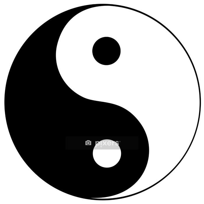 Sticker mural Ying yang symbole de l'harmonie et de l'équilibre - Sticker mural