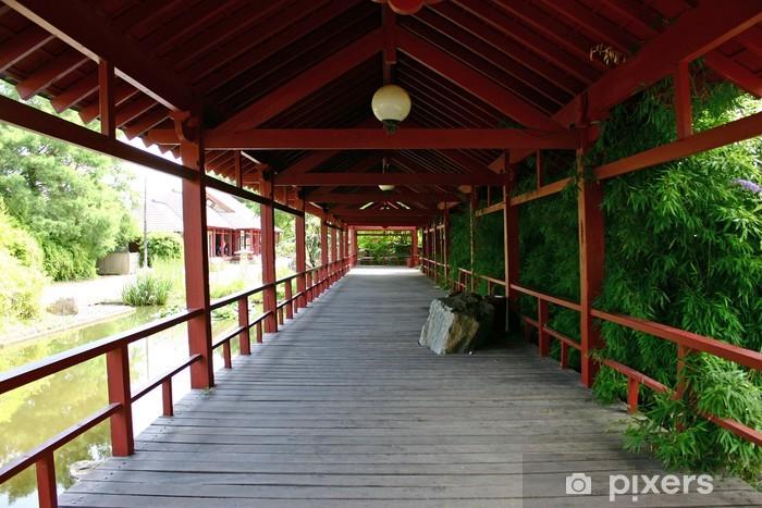 Naklejka Pixerstick Ogród japoński - Budynki użyteczności publicznej