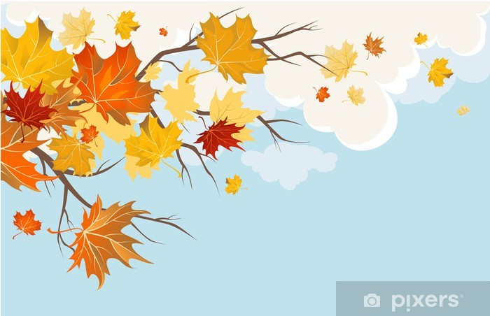 Fotomural Estándar Hojas de otoño. - Temas