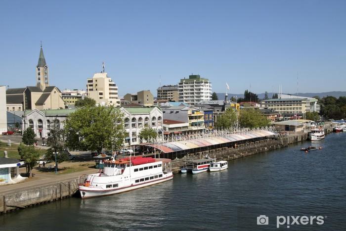 Naklejka Pixerstick Miasto Valdivia w Chile - Ameryka