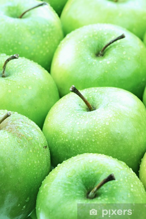 Naklejka Pixerstick Zielone jabłka - Posiłki