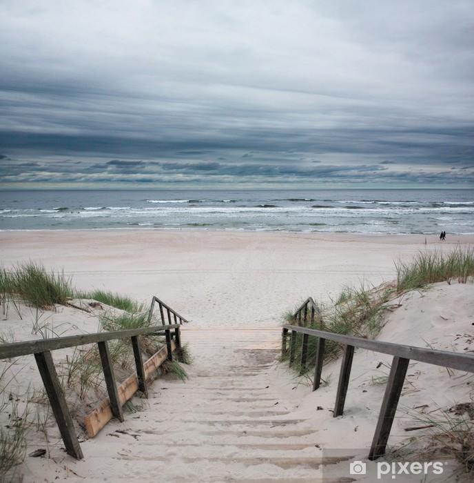 Pixerstick Sticker Strand - Oostzee - Zee en oceaan