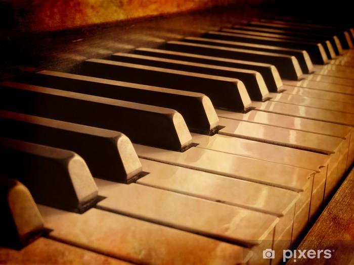 Papier peint vinyle Sepia Piano Keys - Musique