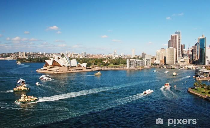 Nálepka Pixerstick Sydney Opera House s ferrys v foregournd - Témata