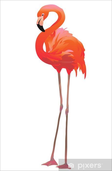 Vinyl Fotobehang Фламинго / Flamingo - Muursticker