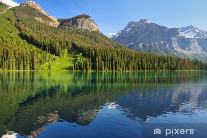 Naklejka Pixerstick Emerald Lake - Mountain Reflections - Ameryka