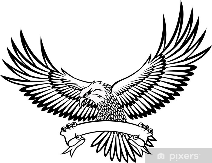 Eagle with emblem Vinyl Wall Mural - Wall decals
