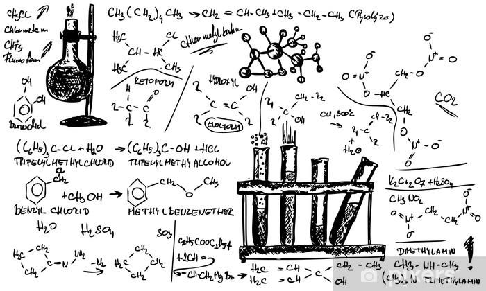 Pixerstick Aufkleber Organische Chemie - Grafische Elemente