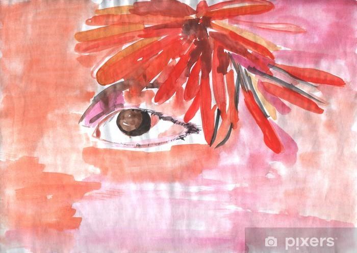 Vinylová fototapeta Abstraktní akvarel kompozice s okem - Vinylová fototapeta
