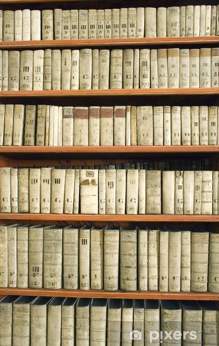 vinyl fotobehang boekenkast met een oude boeken openbare gebouwen