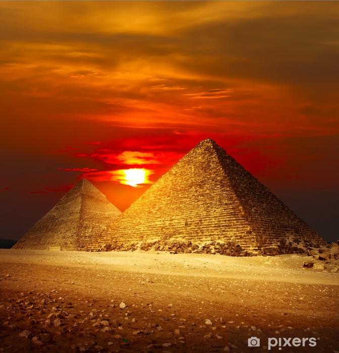 Giza valley Pixerstick Sticker - Desert