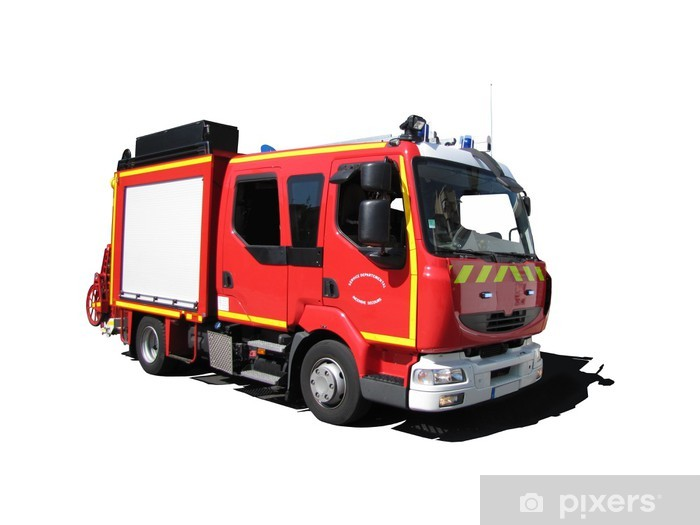 camion de pompiers 39 fourgon pompe tonne l ger 39 sticker pixers we live to change. Black Bedroom Furniture Sets. Home Design Ideas