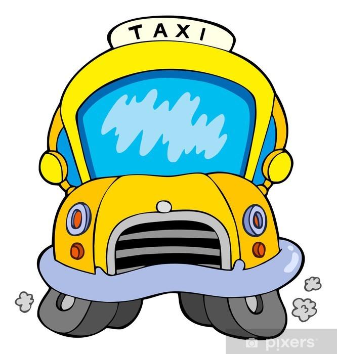 Sticker Voiture De Taxi De Dessin Anime Pixers Nous Vivons Pour Changer
