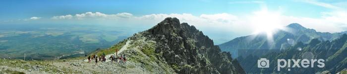 mountain panorama Pixerstick Sticker - Themes