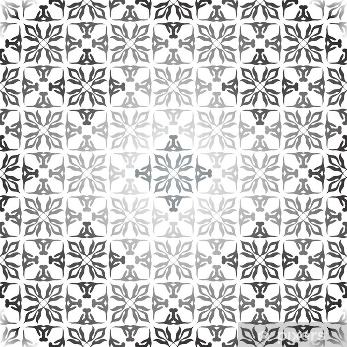 Vinyl Fotobehang Floral zilveren behangachtergrond - Achtergrond