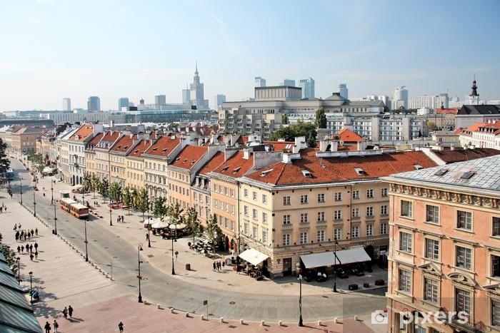 Naklejka Pixerstick Krakowskie Przedmieście w Warszawie przeciwko centrum miasta. - Tematy