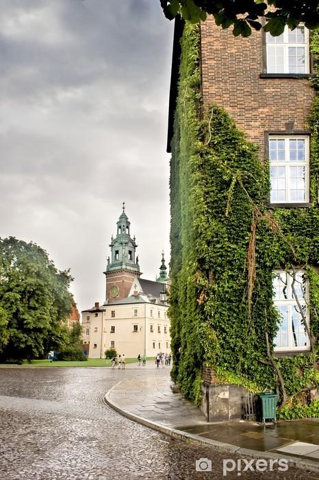 Naklejka Pixerstick Dziedziniec katedry w Krakowie na Listę Światowego Dziedzictwa UNESCO. - Budynki użyteczności publicznej