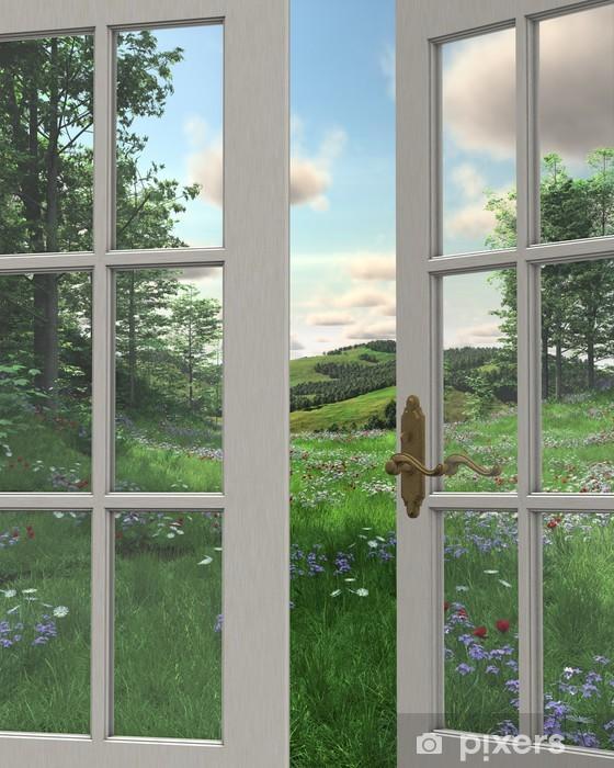 Fototapeta winylowa Window View Wieś - Rolnictwo