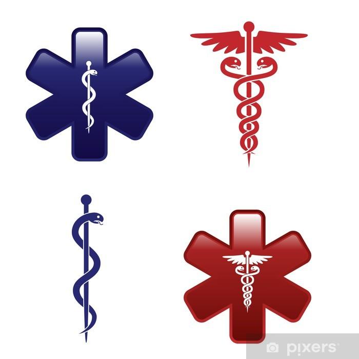 c6d33fc74ac9 Medical symbols set Pixerstick Sticker - Health and Medicine