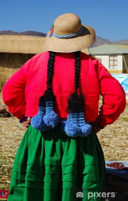 Vinylová fototapeta Uros plovoucí ostrovy na jezeře Titicaca - Vinylová fototapeta