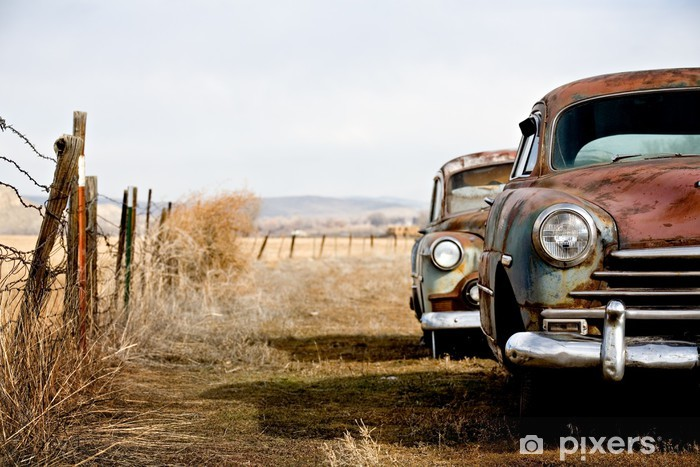 vintage cars Vinyl Wall Mural - On the Road